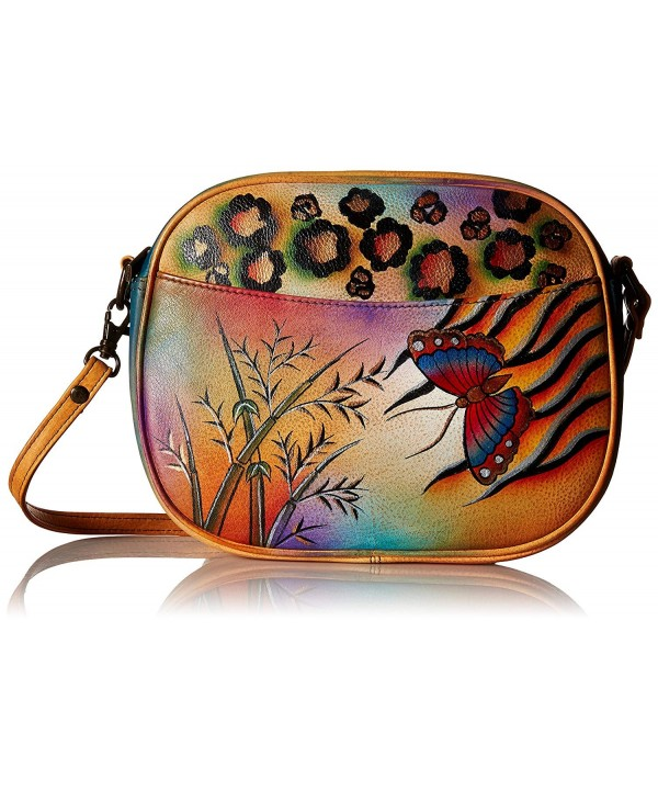 Anna Anuschka Womens Multi Compartment Convertible Hand Painted