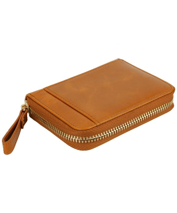 YALUXE Womens Compact Leather Wallet