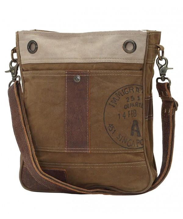 Myra Bag Stamped Upcycled Shoulder