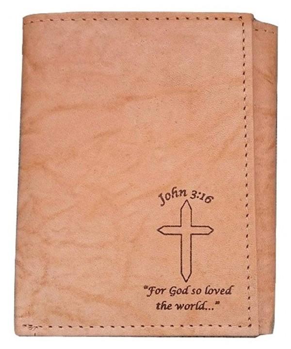 Mens Christian John GENUINE Tri fold